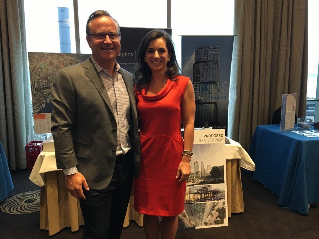 """Dean Jones and Whitney Heffernan, of RSIR, attend the """"Future of Downtown"""" to announce the FutureCast Forum, as well as present information on current and future condo projects such as KODA"""