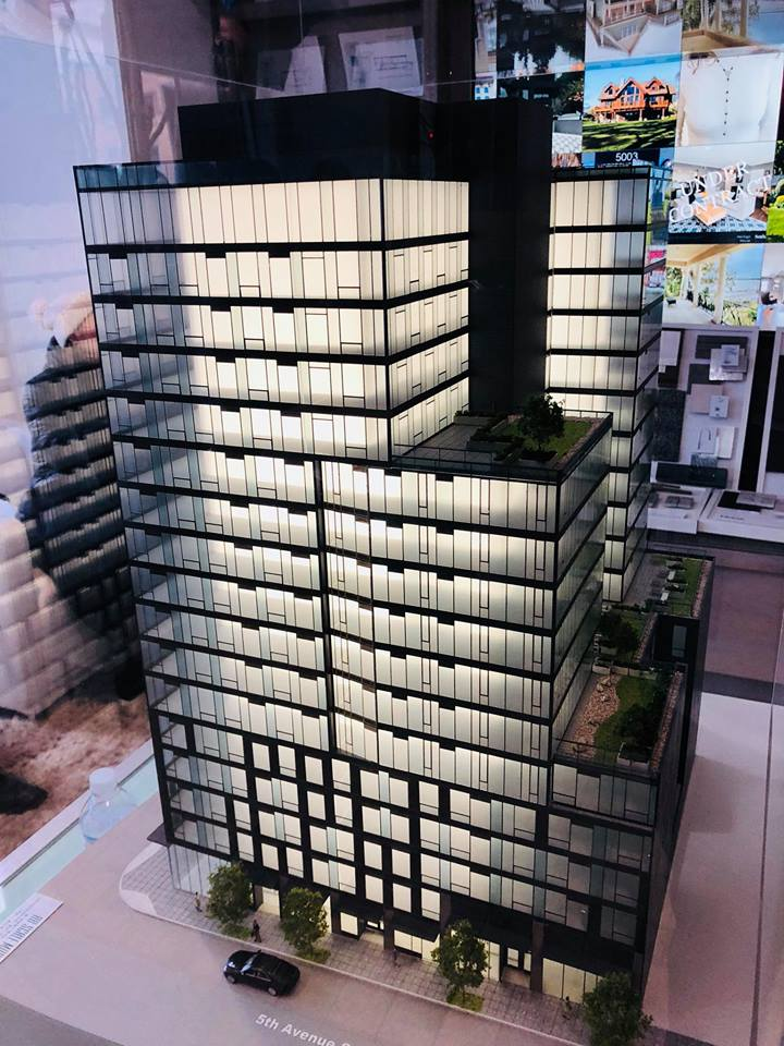 A model of KODA Condominiums was on hand at the Reservation Event