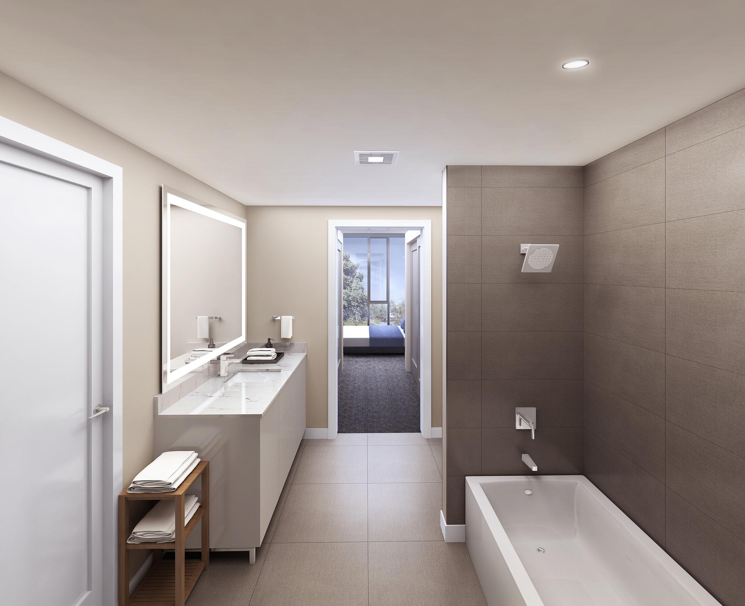 koda seattle condos bathroom layout