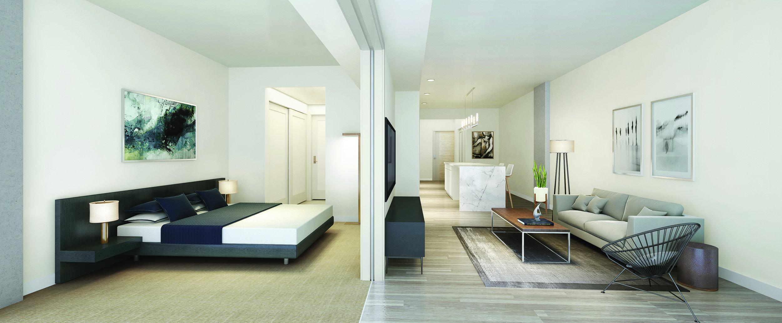 koda seattle condos bedroom layout