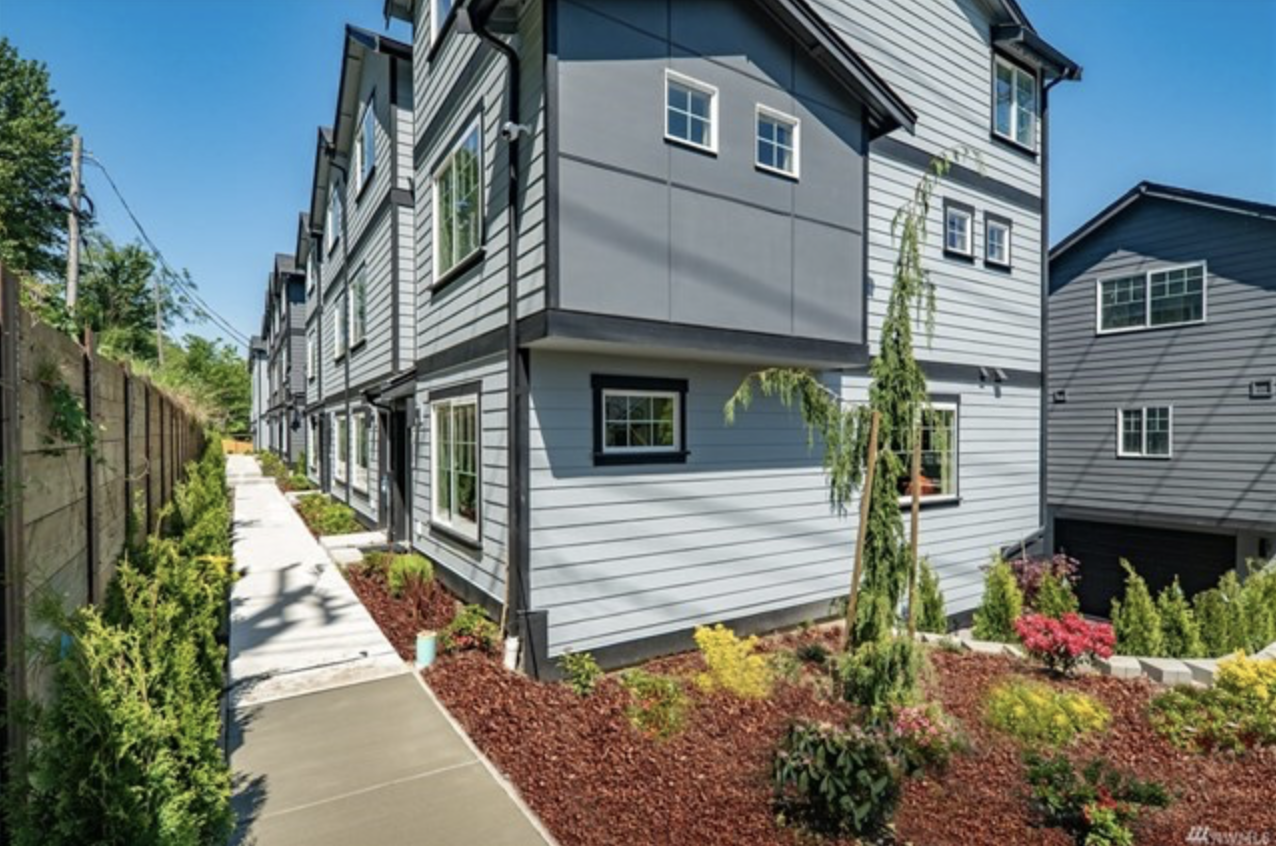 PICTURED ABOVE:  The Central Townhomes presented by Realogics Sotheby's International Realty in Columbia City are a limited collection of 24 new three-bedroom homes that are finding buyers within days of hitting the market.