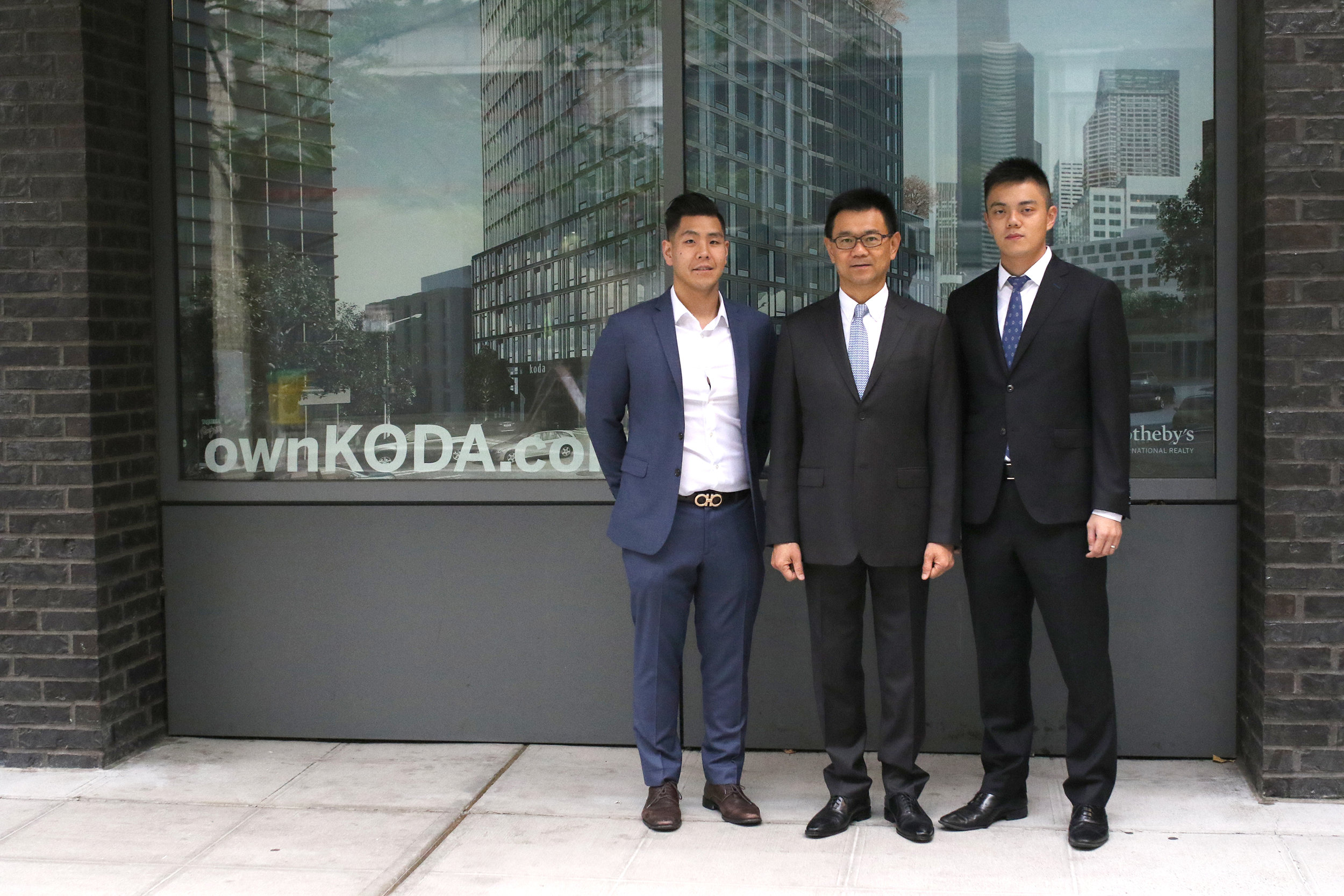 PICTURED ABOVE AND BELOW:   Representatives of DA LI Development USA tour the KODA Discovery Center located 510 Occidental South in Pioneer Square – opening Fall 2018.