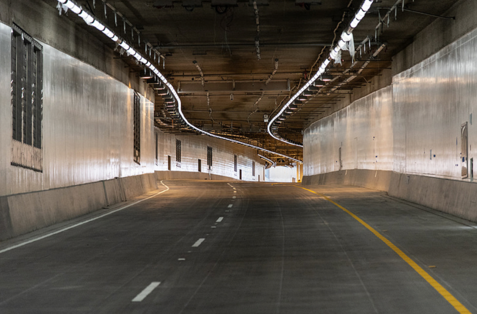 PICTURED ABOVE AND BELOW: Alaskan Way Viaduct and Highway 99 tunnel. After the tunnel is finished, crews will close the Alaskan Way Viaduct for several weeks to realign the highway to the tunnel.