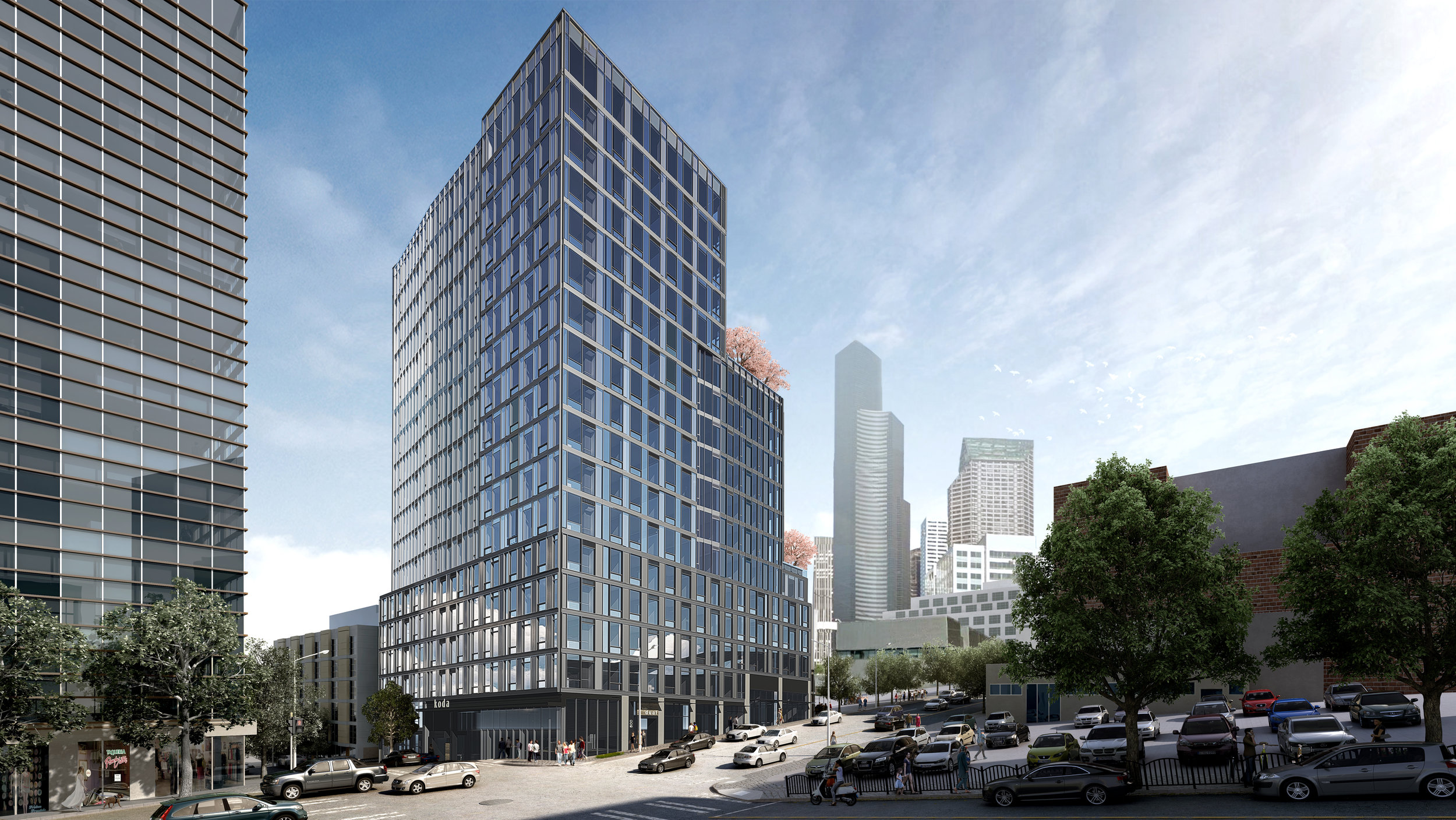 PICTURED ABOVE: KODA is a brilliantly conceived new condominium development at the intersection of Downtown Seattle, Pioneer Square and the Nihonmachi (Japantown) area that serves as the gateway to the eclectic and historic International District.