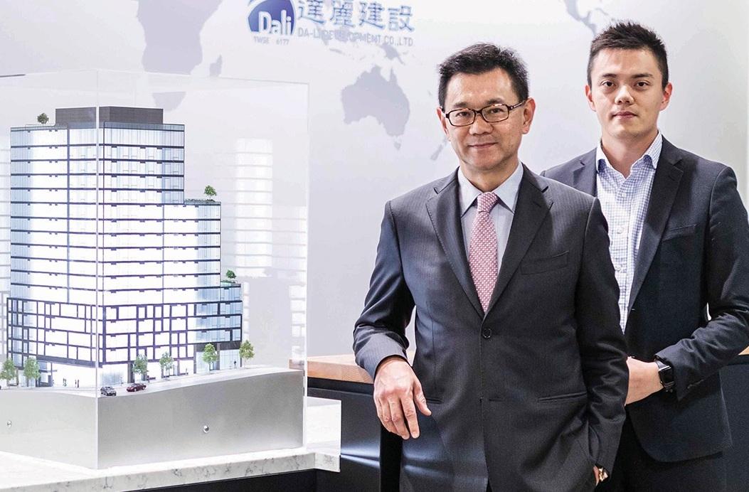 DA LI DEVELOPMENT USA: Chairman James Hsieh, left, and company Vice President Kevin Hsieh.
