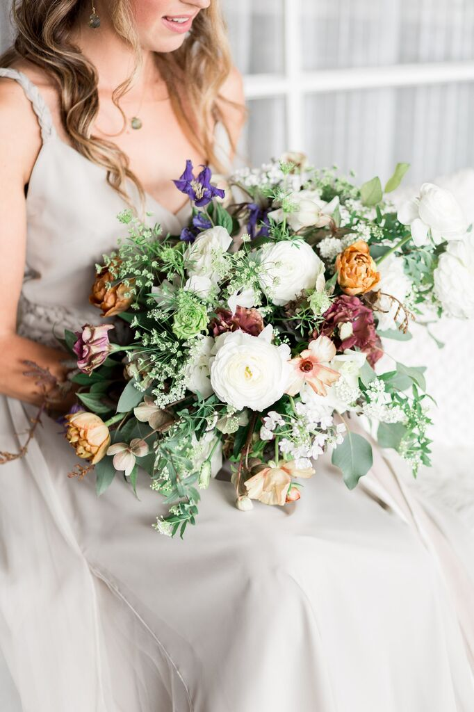As seen in  southern california bride  |Photography  cavin elizabeth  | Event design  peaches to poppies  | Floral design blue ladder botany | Gown @onceadorned | Hair @haircommandmentz | Model ashley renuart