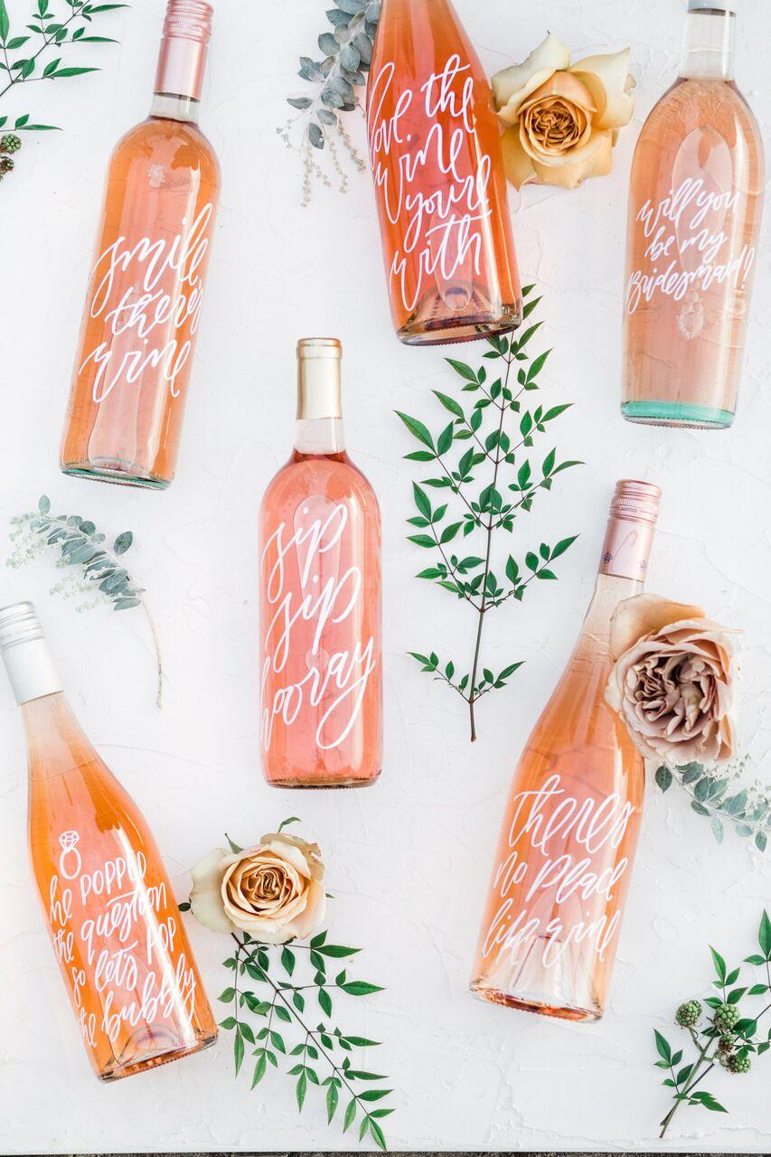 custom wedding wine bottles