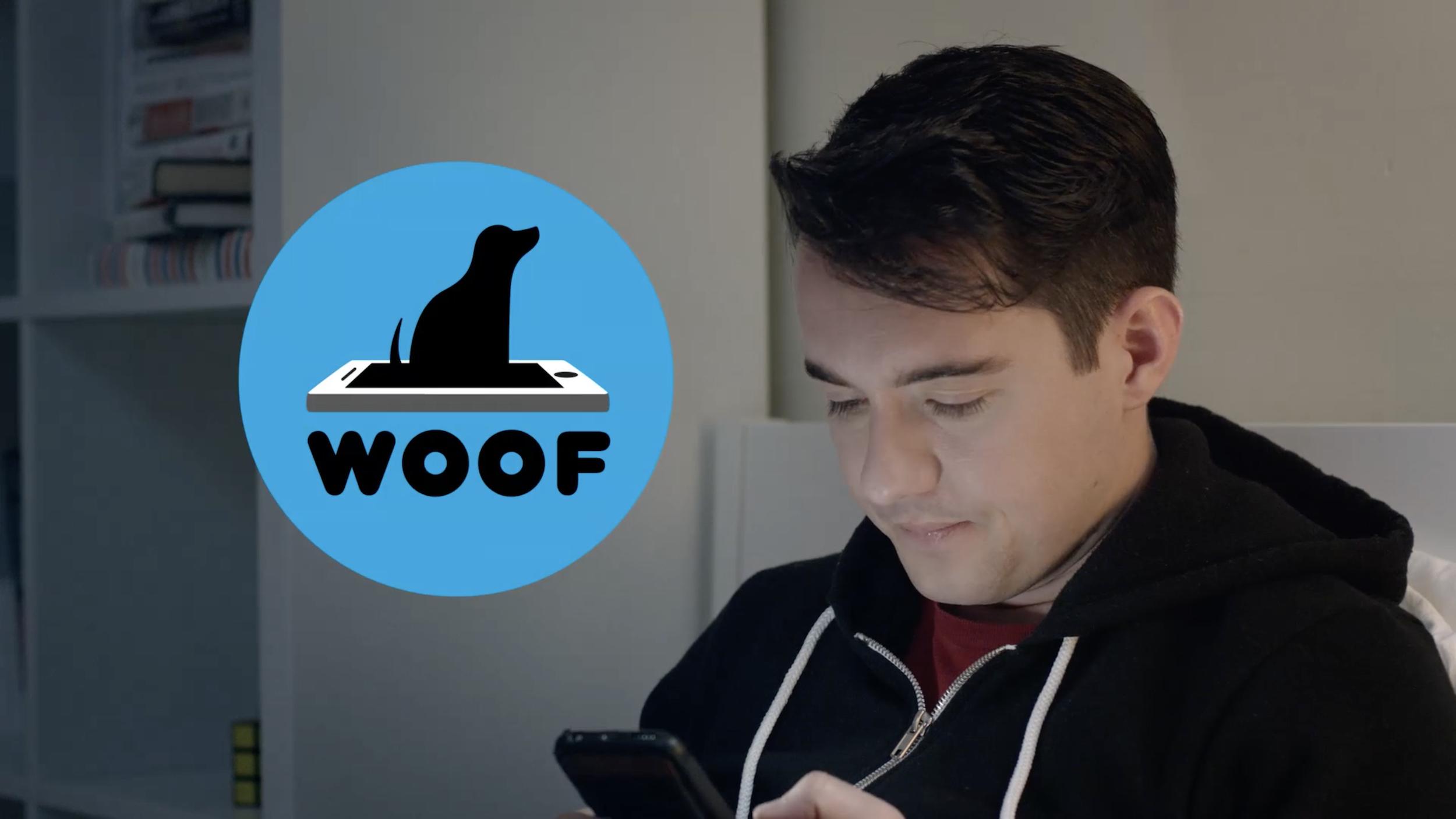 """WOOF"" app loading icon"