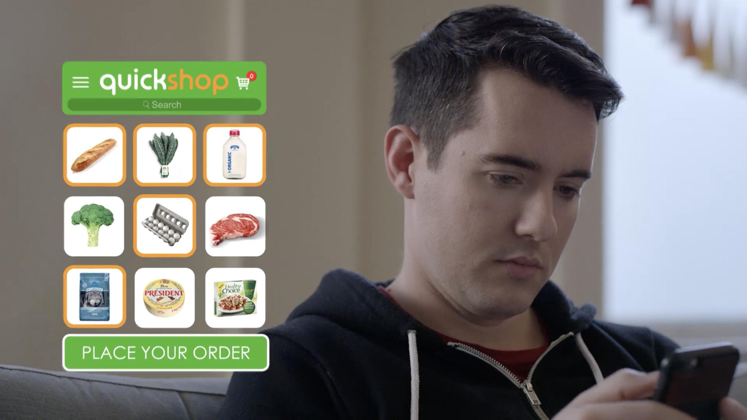 """""""Quickshop"""" cart interface"""