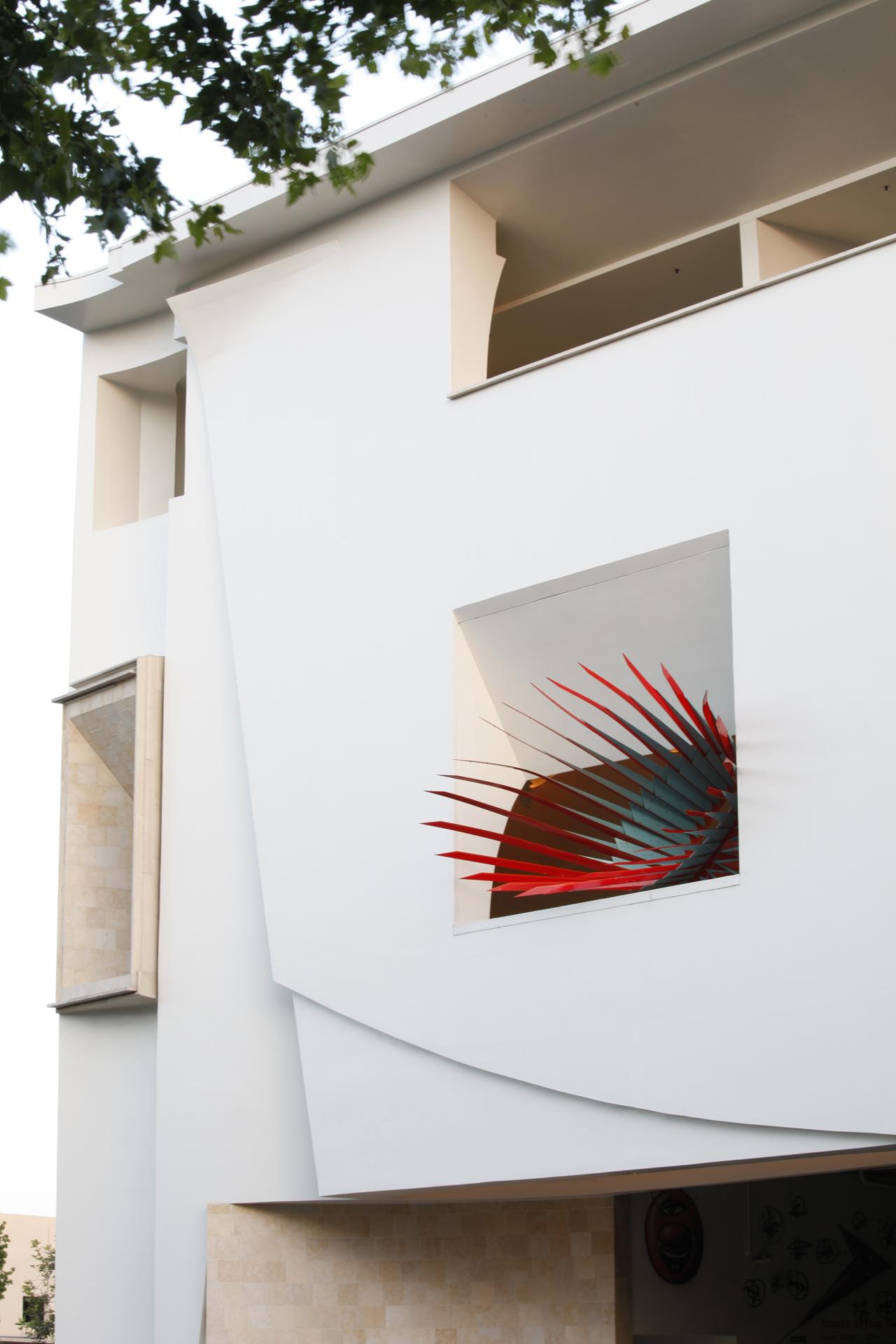 Main elevation with art installation