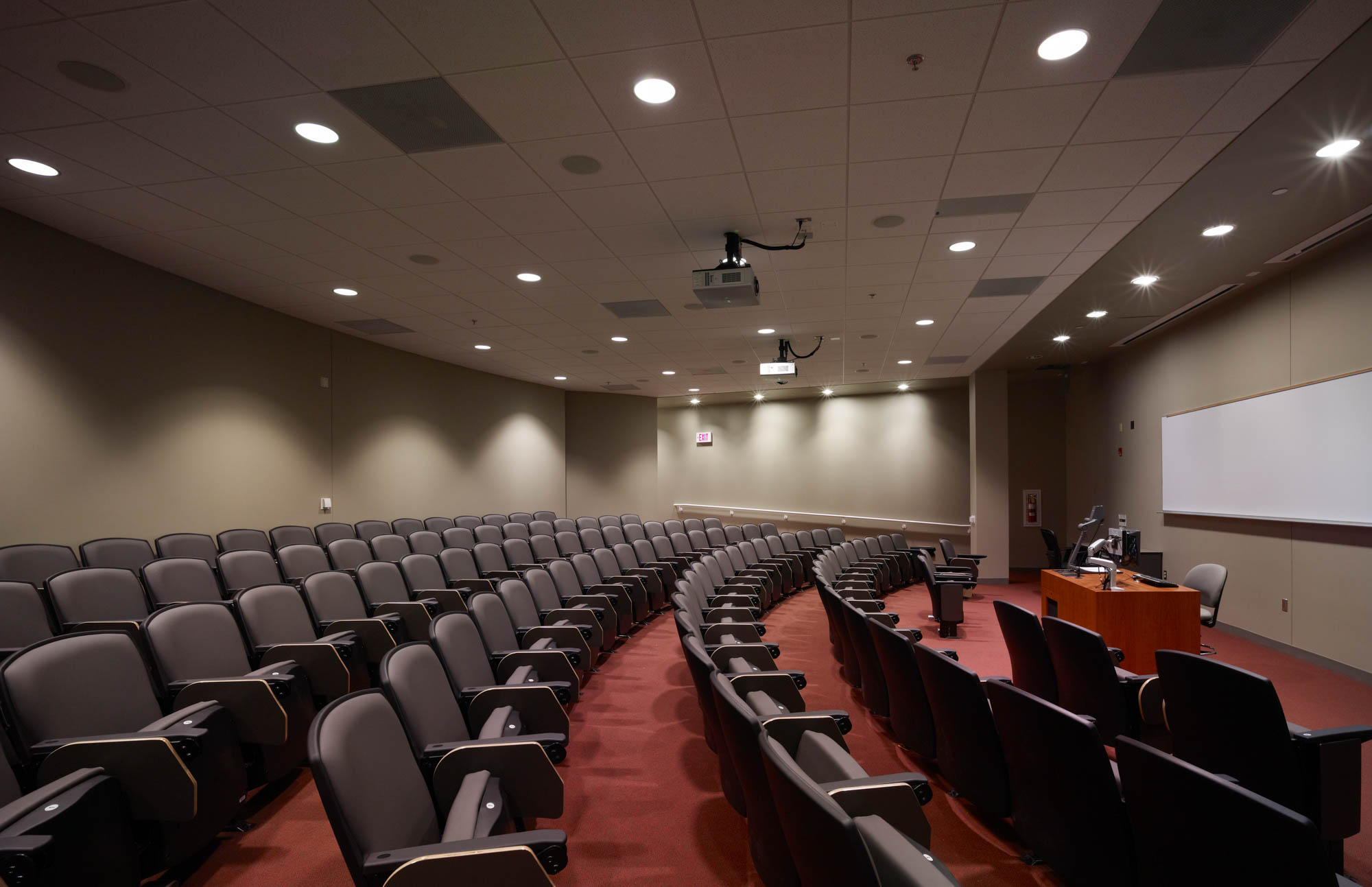 Technology Classroom Building sloped floor lecture theater