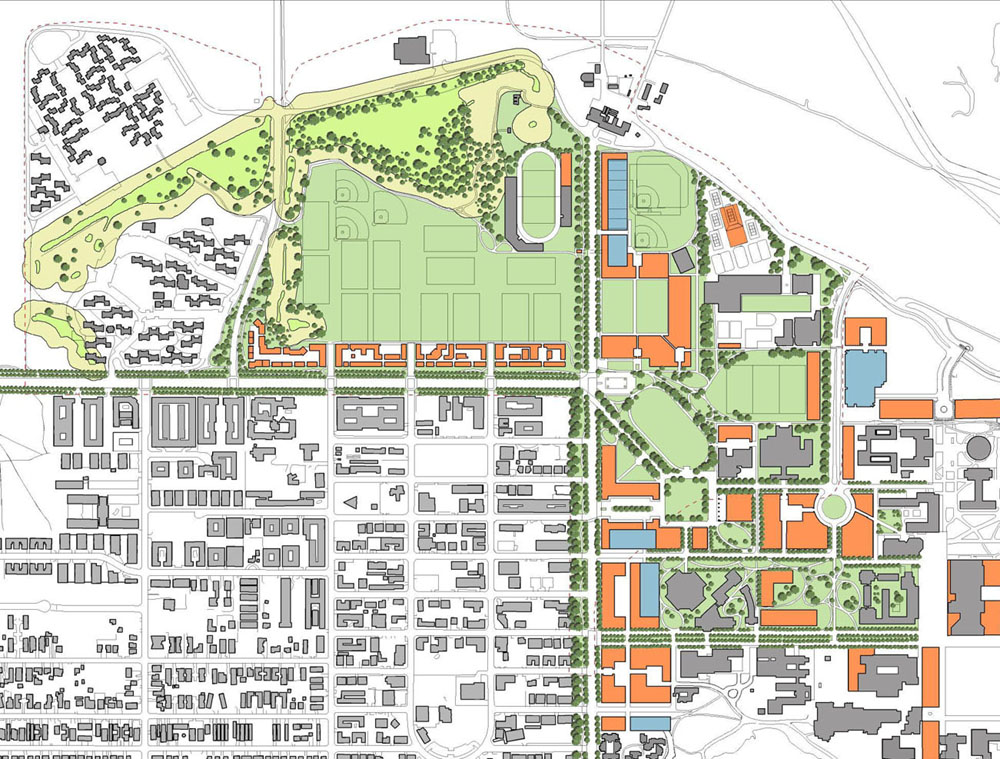 UC Santa Barbara site plan with phases 1 and 2