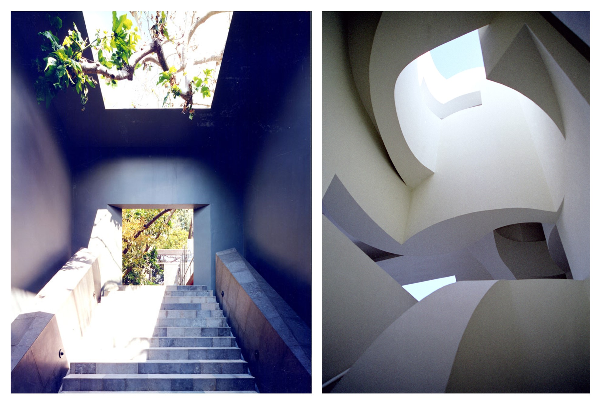 TREE HOUSE AND CAVE (Santa Monica gallery left; Pasadena Museum of California Art, right)