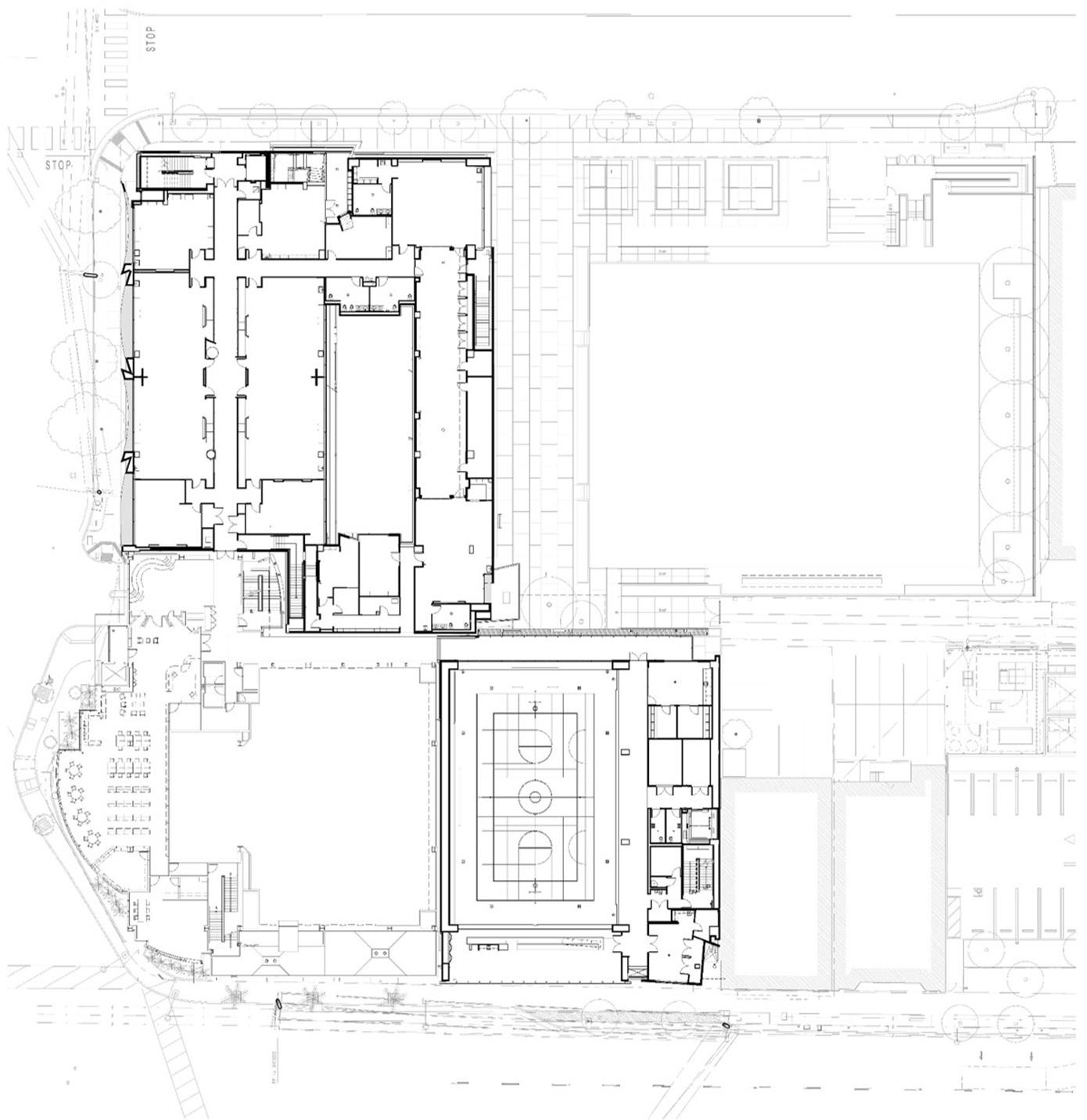 LOS ANGELES AREA SCHOOL Site plan