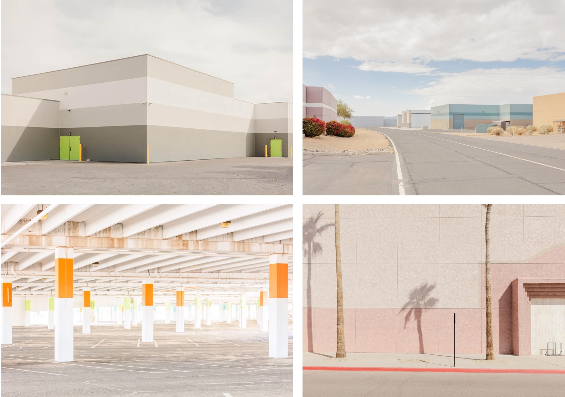 DISEMBODIED BEAUTY These photographs by Jesse Reiser of semi abandoned places, dead malls and distribution centers in the desert are beautiful images of desolate sometimes degraded places.