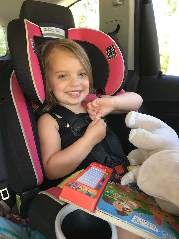 Madison  4 year old Madison driving her car and enjoying being a kid again after a long 13 months of treatment! Diagnosed with stage 3 high risk neuroblastoma July 20th, 2016. Thankfully NED (no evidence of disease since December 2016 and we hope and pray forever!
