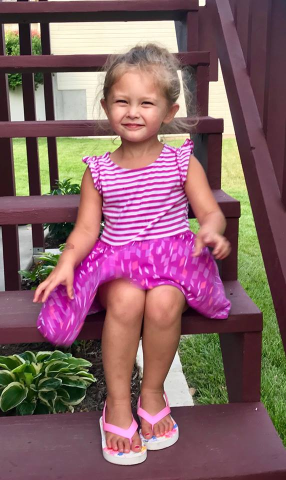 addyson  Born January 2015 and diagnosed with neuroblastoma in her spinal cord in December of 2015. She is now 3 1/2 and doing wonderful having check ups every 3 months and follow up scans every 6 months! Addy's family is doing well and thankful she is starting pre-school.