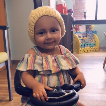 Anya  Anja was diagnosed with Neuroblastoma at just eight months old. Anya has been in the hospital majority of the year due to multiple blood infections RSV transplant complication from surgeries and is continuing to receive care in her home in Florida.