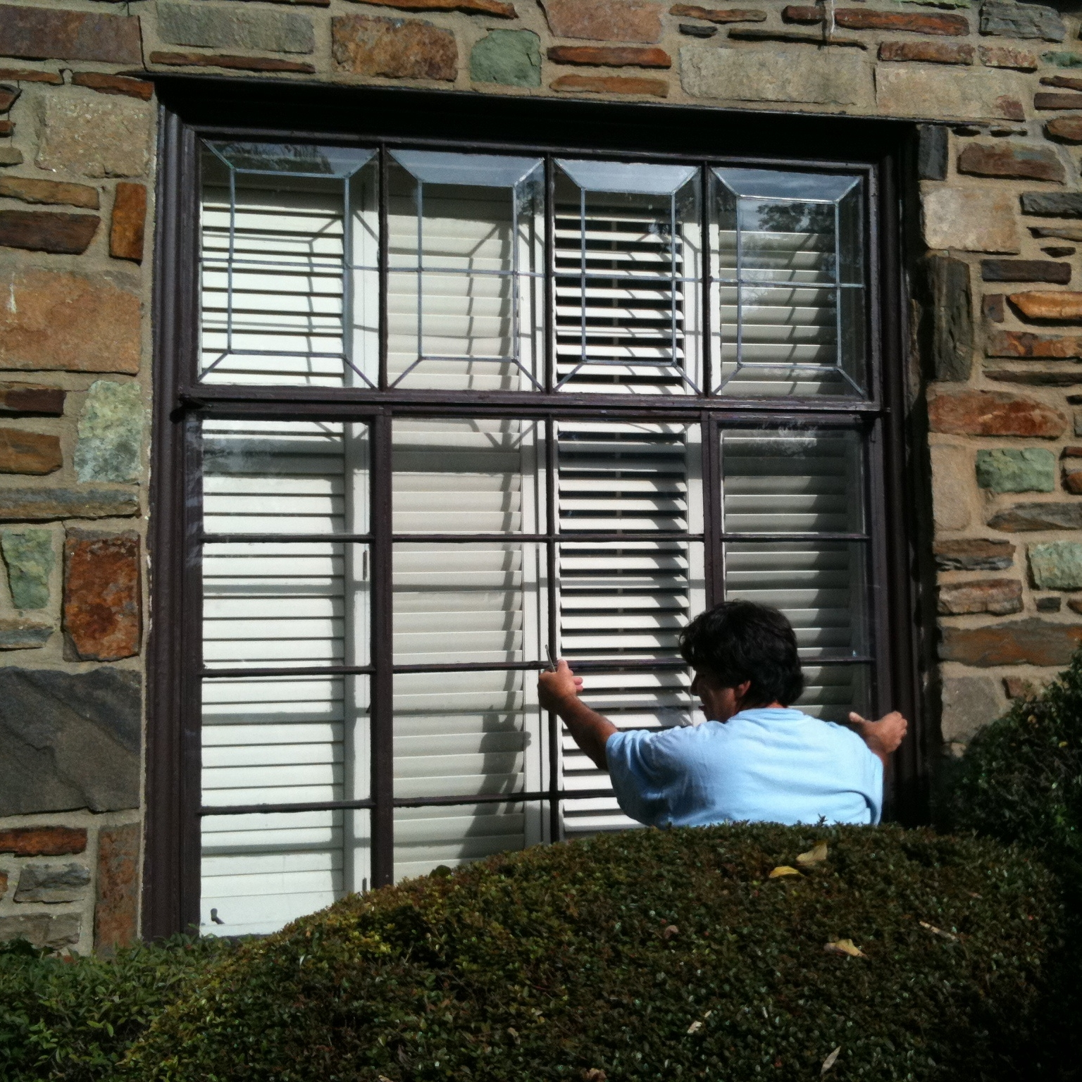 """Casement (and, in fact, most historic) windows are hard to fix and insulate – which is why lazy contractors often remove them, citing dubious """"environmental"""" standards that don't account for the cost of throwing out perfectly serviceable components that were engineered to last generations, not 3 - 5 years, the service life of most contemporary, """"lifetime guaranteed"""" windows. As a principle, we won't replace any historic windows that we can fix ourselves or insulate – and most, unless they are seriously rotted out, fall into that category. The inimitable windows here, approximately a century old, still exist today."""