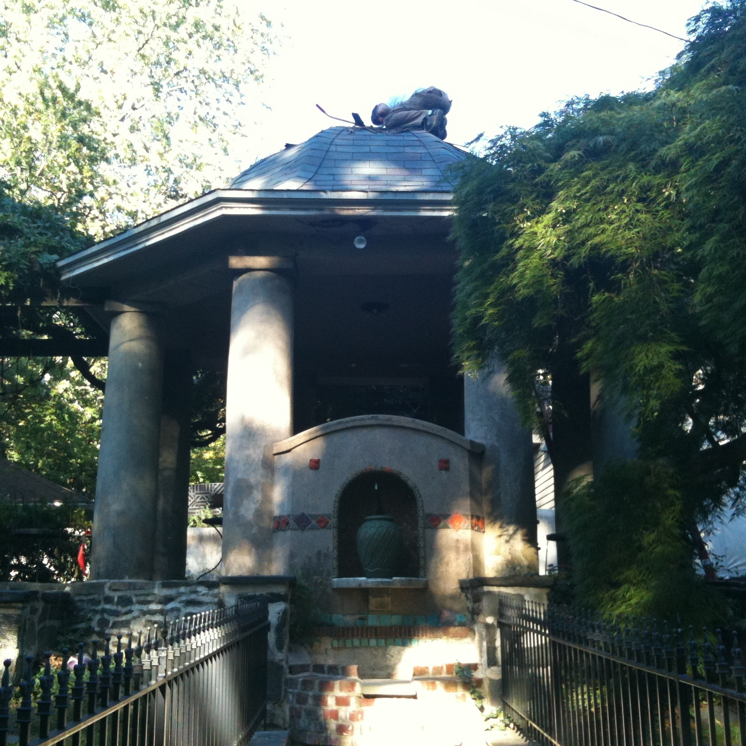 Garden temple restoration – little did we know that this was a real tomb...