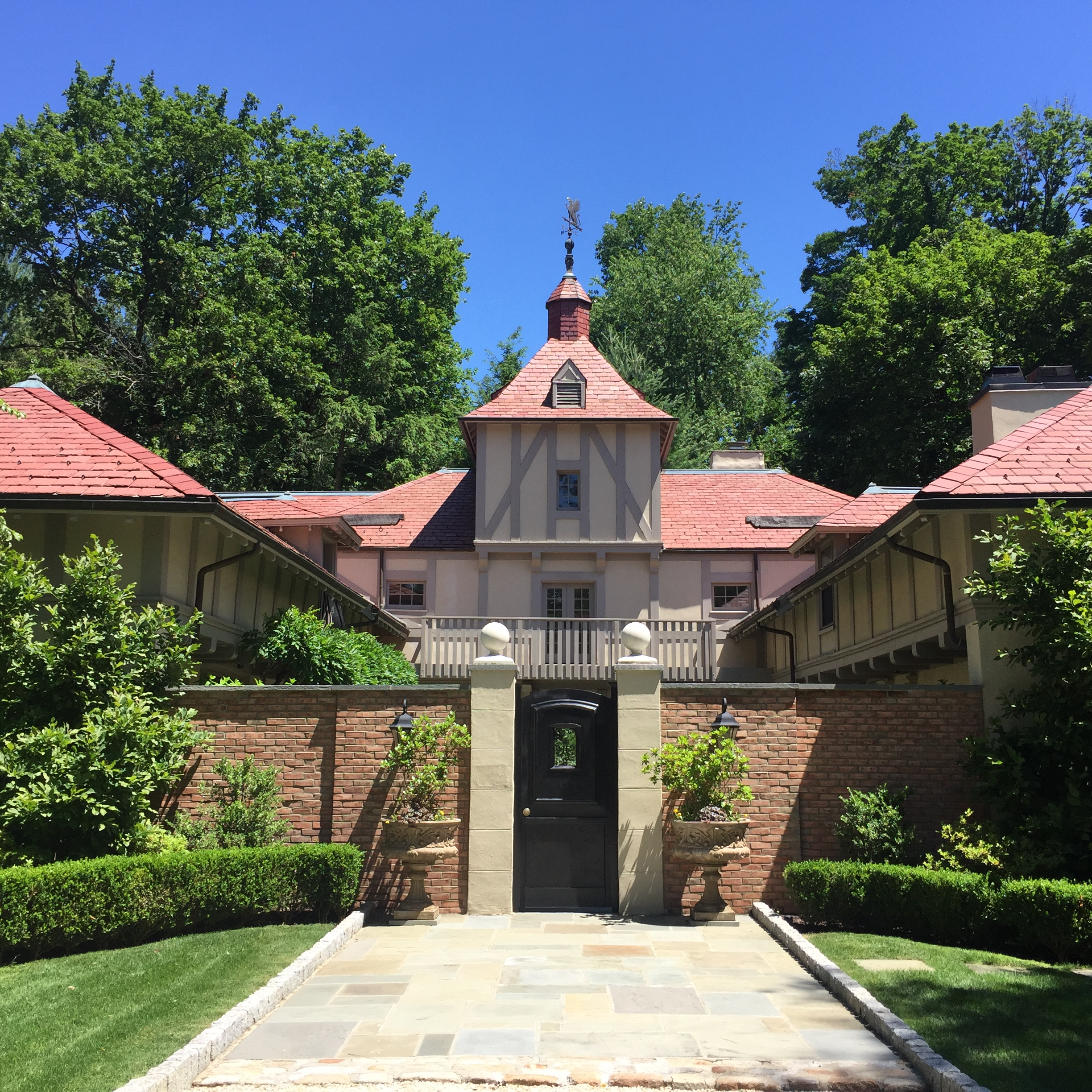 We've provided concierge renovation services, ranging from slate replacement and custom carpentry to the installation of a computerized sump pump, for two different owners of this historic Bryn Mawr estate. We've even designed and installed a custom weathervane, after the original one had been stolen around the crash of 2008.