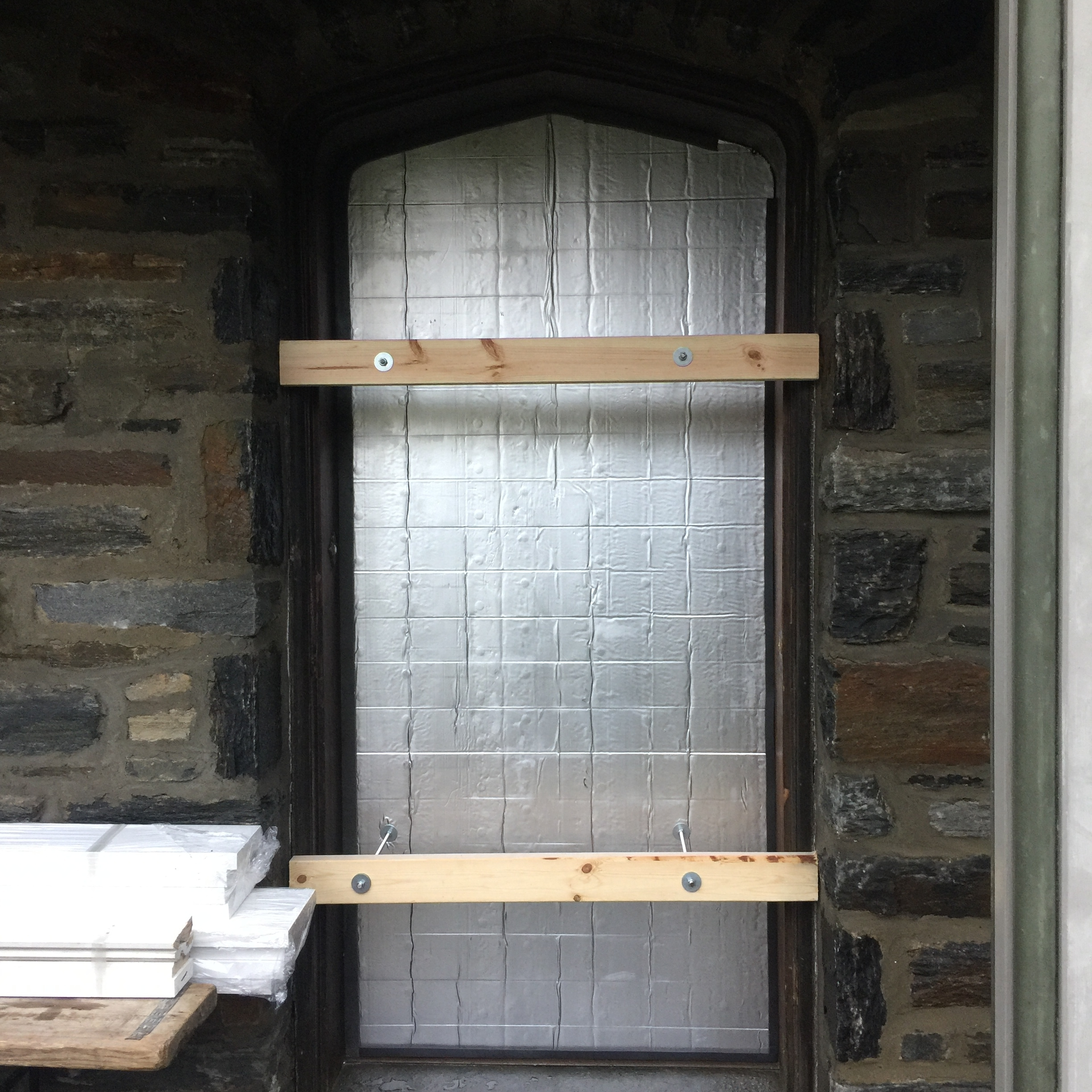 We've found that clients are hesitant to restore historic front doors because there is no way to insulate or protect the interior from heat loss or intruders. So, we designed a proprietary system that solves both concerns, as well as allows clients to escape, in case of a fire.