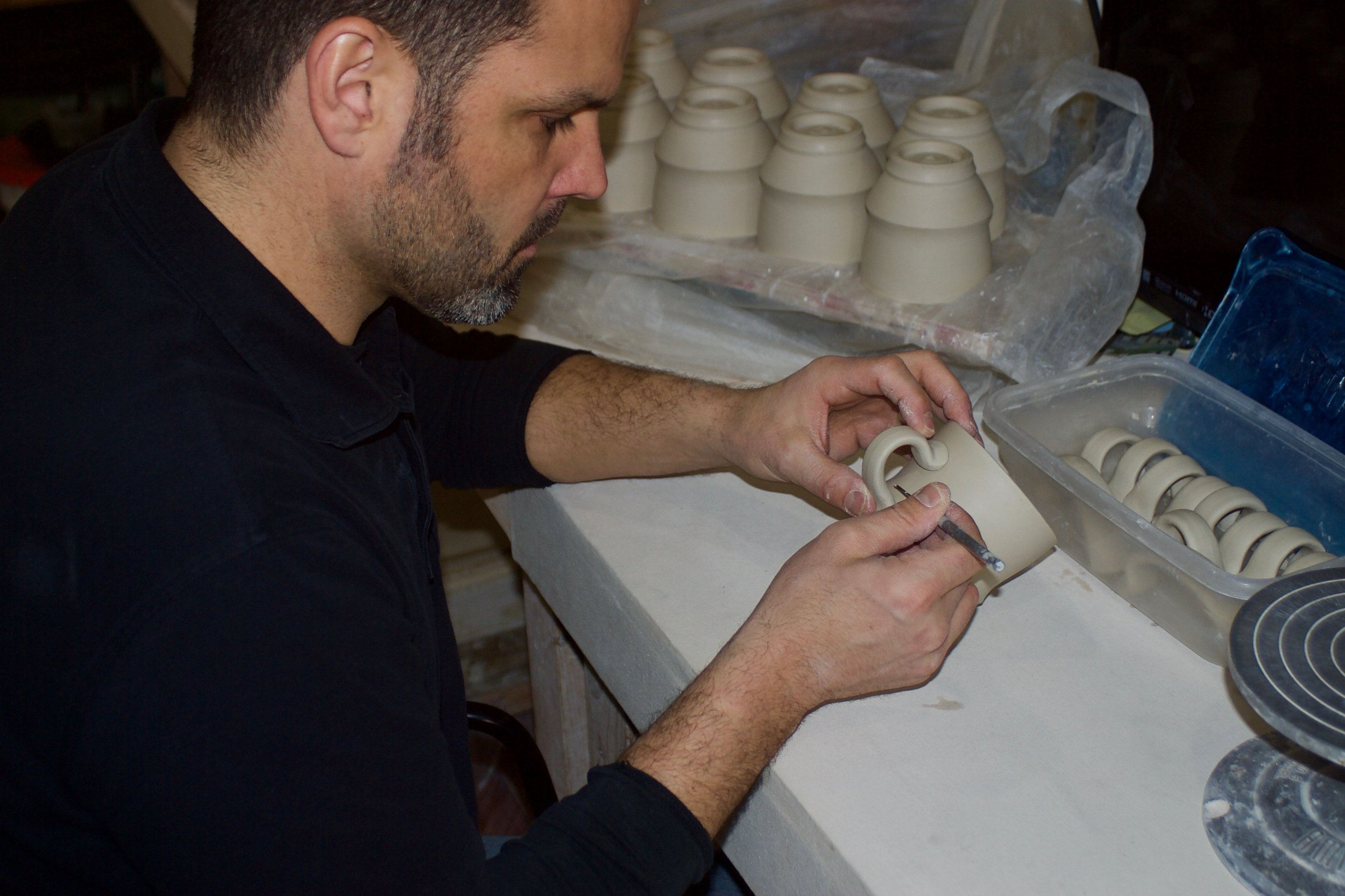 Ryan J. Greenheck - Greenheck Ceramics Studio2019 N. 33rd Street, Philadelphia, PA 19121www.ryanjgreenheck.comRyan received his Master of Fine Arts degree from SUNY College of Ceramics at Alfred University in 2004. He also received a Bachelor of Fine Arts degree as well as a Bachelor of Science degree from The University of Wisconsin-Stout in 2002. He has participated in numerous national juried exhibitions and invitational shows since 2000. His work is represented in many galleries throughout the country. Ryan currently is a practicing studio potter and Lecturer at the University of Pennsylvania.