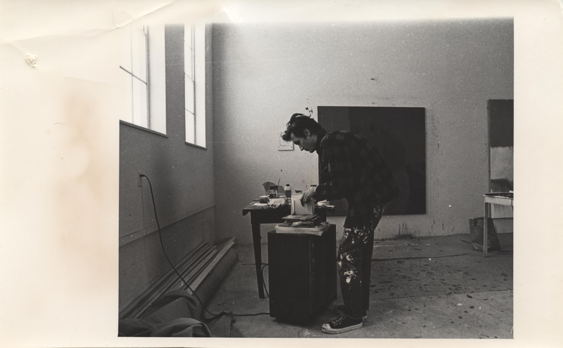 David Reed (RAiR 1969-70) in his studio at Berrendo Rd