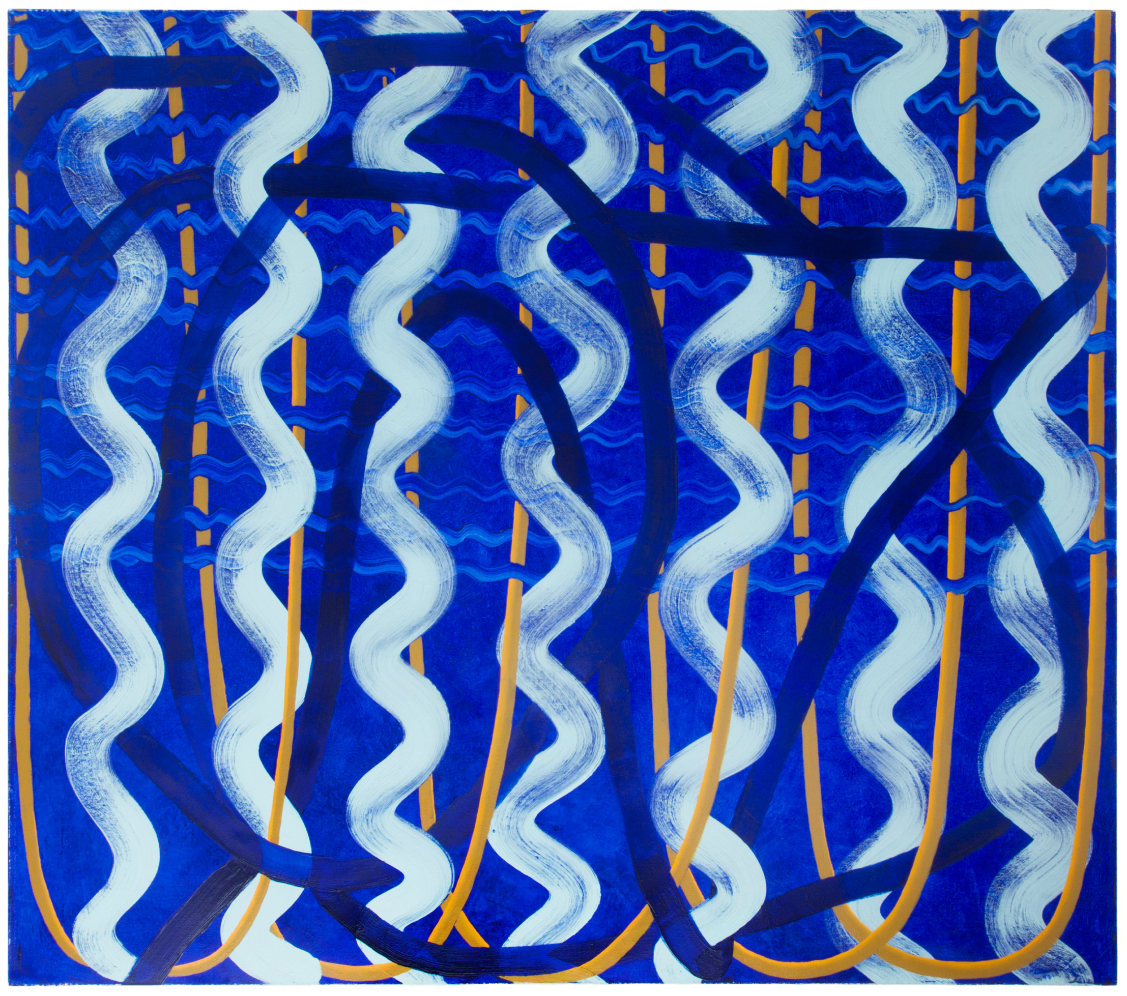AMoCA Collection  | Untitled (waves), 2016, oil on canvas, 44x50 inches