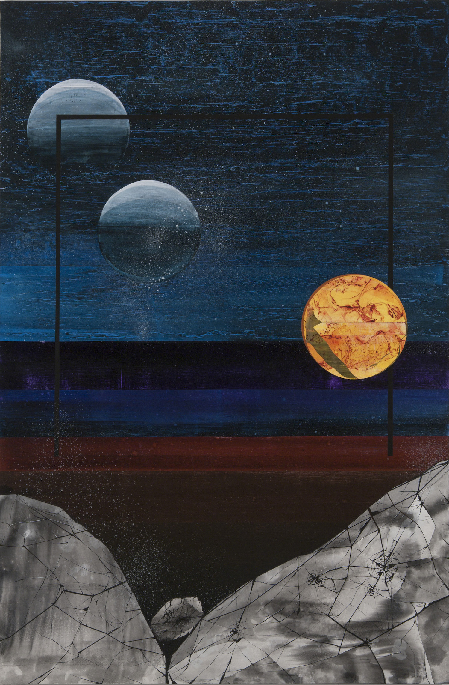 AMoCA Collection  |  Venus , acrylic and collage on panel, 72 h. x 48 inches, 2013