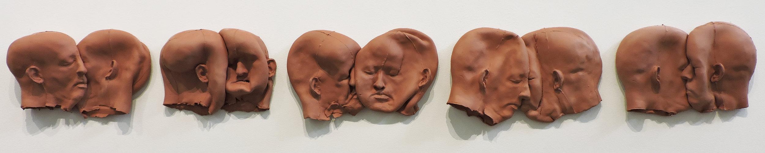 "AMoCA Collection  |  Sentence , ceramic, 9.5""x80""x3.5"", 2014"