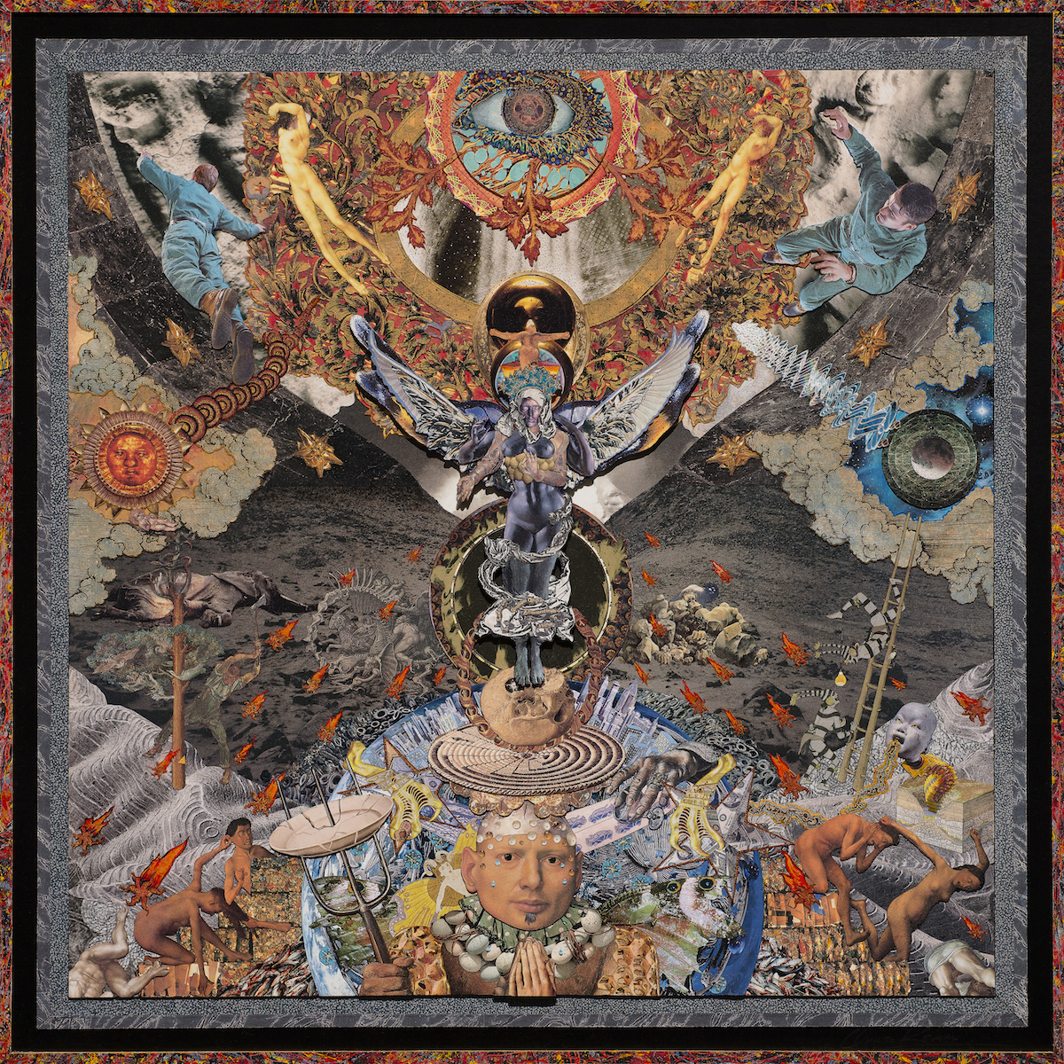"AMoCA Collection  |  Prayers for the Dead , c-print of collage, 2014, 47""x47"""