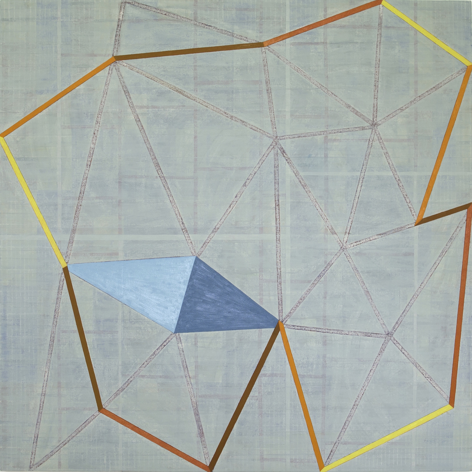 "AMoCA Collection  |  August (12) , oil on canvas, 60""x60"", 2012"