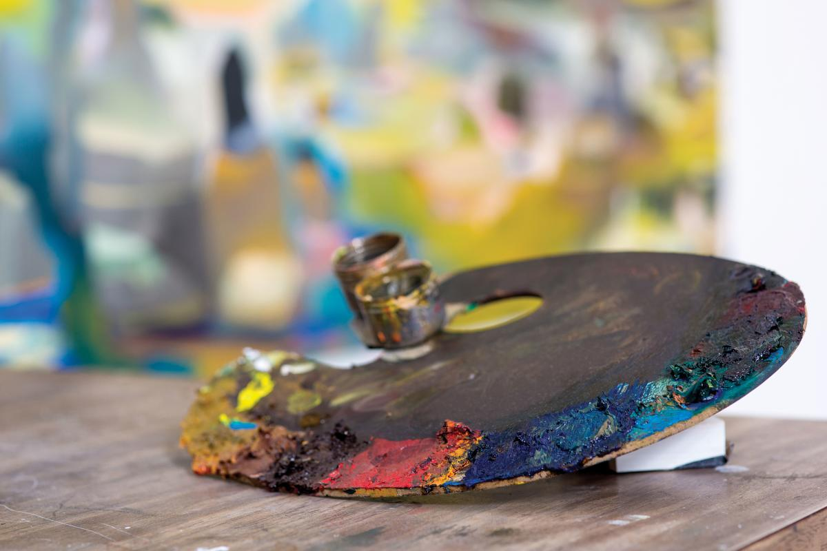 Photo by Jennifer Coats | Roswell artist-in-residence  Conor Fagan's  palette.