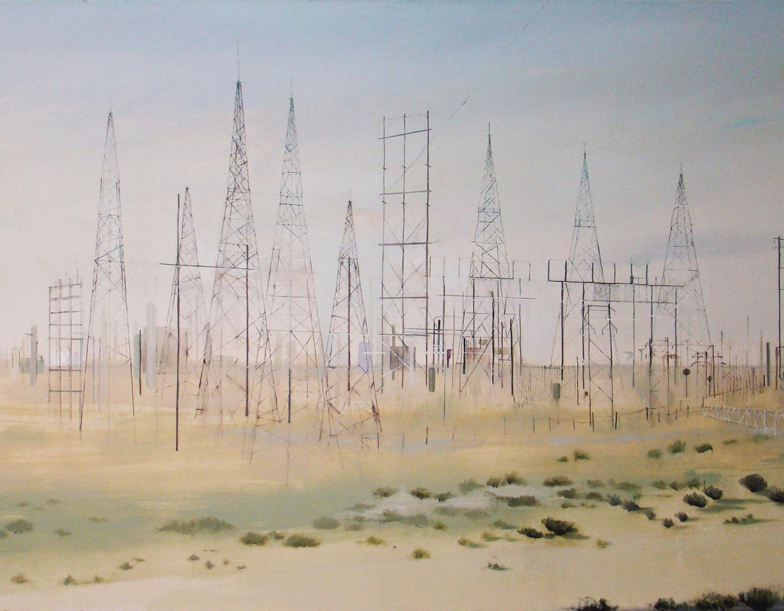 "AMoCA Collection  | Around 4, oil on canvas, 40""x50"", 2011"