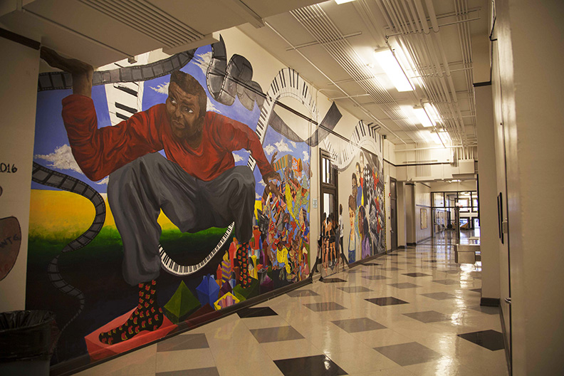 First Mural in our ChiArts_ Home by Junior Class of 2016 Bradshaw WEB.jpg