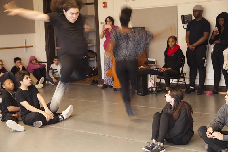 Freshman Theatre Majors Perform Piece Inspired by Freshman Visual Art Student Artwork Bradshaw WEB.jpg