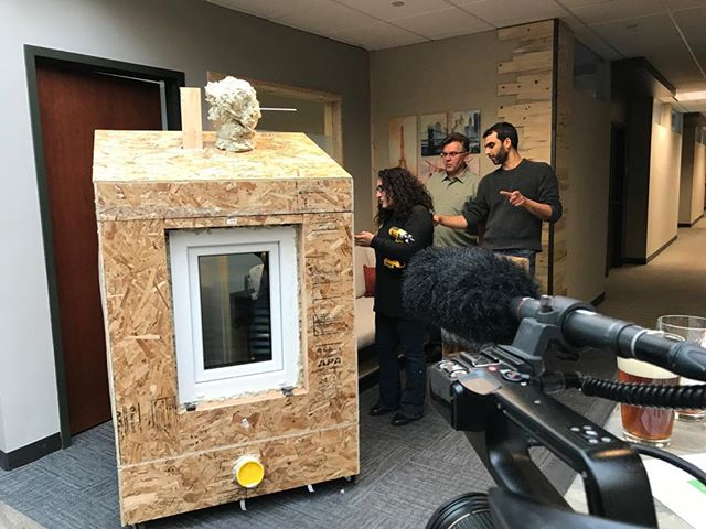 Behind the scenes with of the Advanced Building Workshop for passive builders, taught by @emusystems. #buildpassive