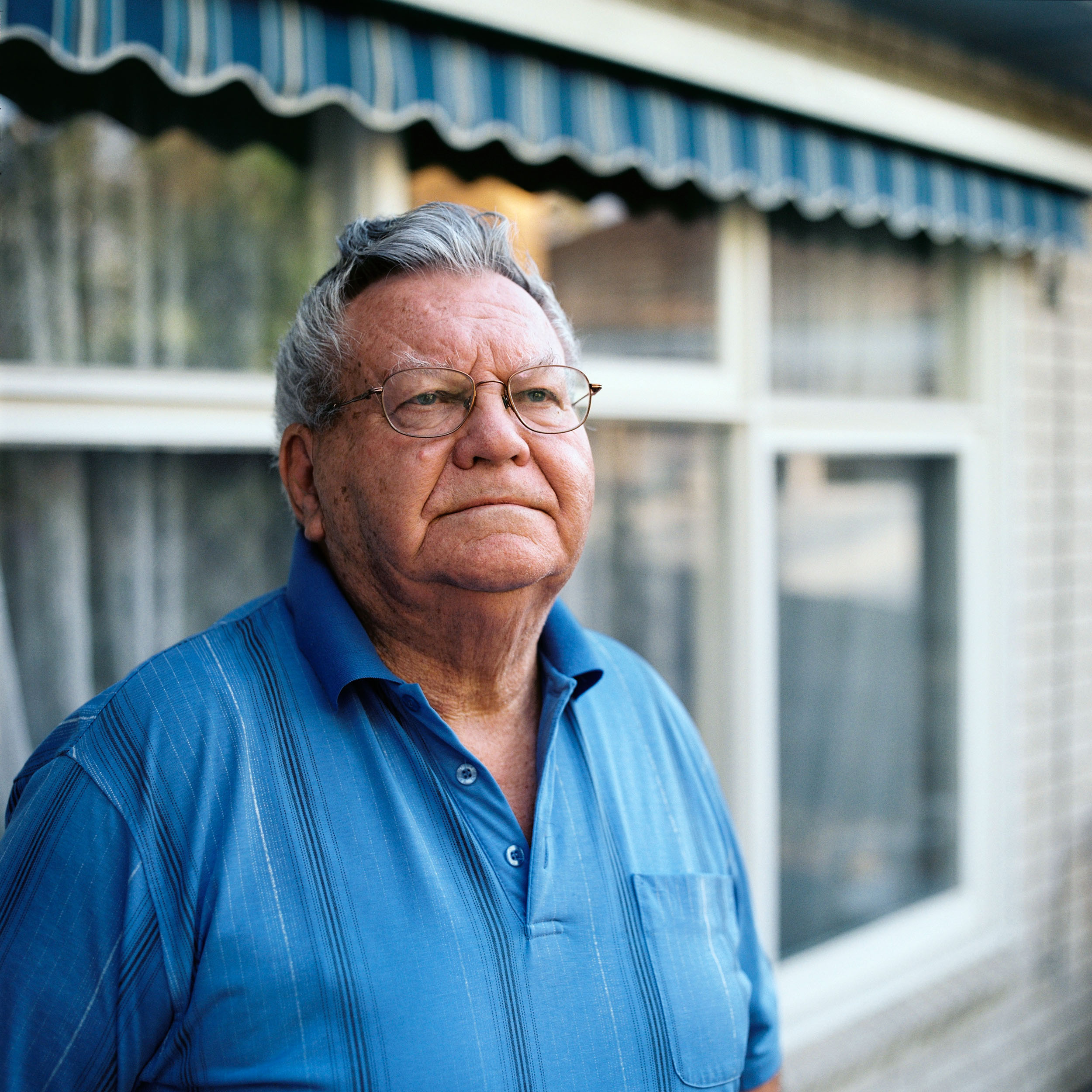 Patrick at home, Doncaster East, VIC. Patrick has asbestosis, a legacy of working in the building industry for over forty years.