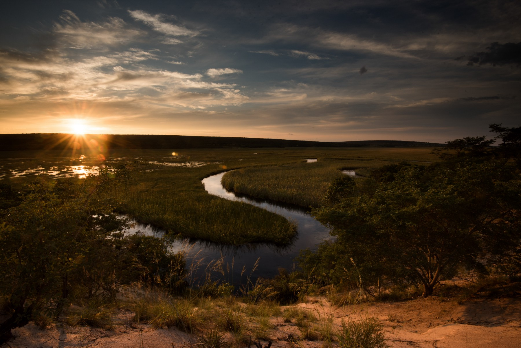 The Cuanavale River, which is fed by the source lakes that Boyes and his team are striving to protect in the Okavango River Delta. Photo: Chris Boyes
