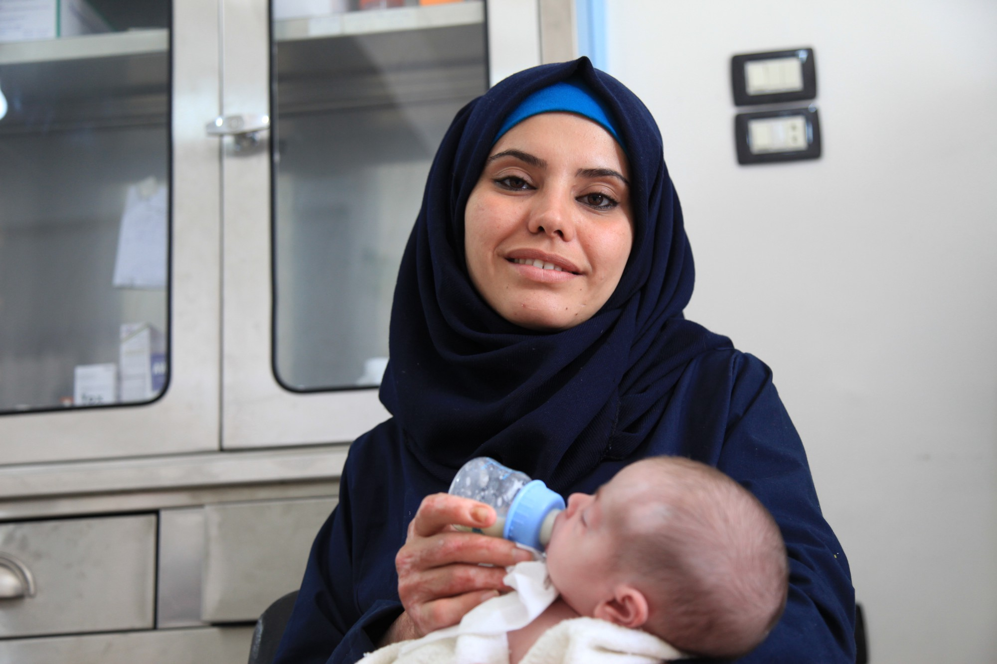 Malak, head nurse at Hope Hospital in Syria—the first hospital funded by Rola Hallam's humanitarian-support organization CanDo . All photos courtesy of Rola Hallam.