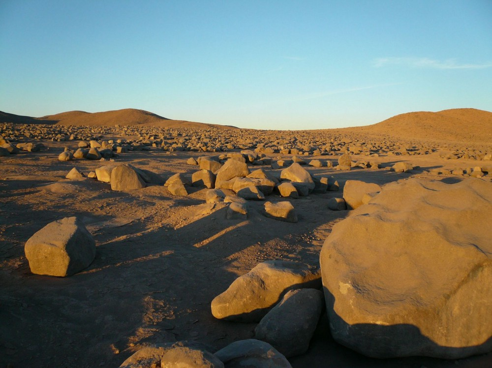 Mar í a Elena South, the driest place on Earth. The hyperarid core of the Atacama is considered an important analog for studying Mars because of its extremely low moisture levels and soil composition.