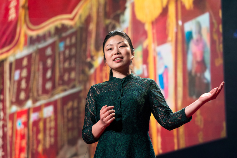 Documentary filmmaker Nanfu Wang uncovers untold stories behind China's one-child policy, and the creeping effects of propaganda. She speaks at Fellows Session 1 at TED2019: Bigger Than Us, April 15, 2019, Vancouver, BC, Canada. (Photo: Ryan Lash / TED)