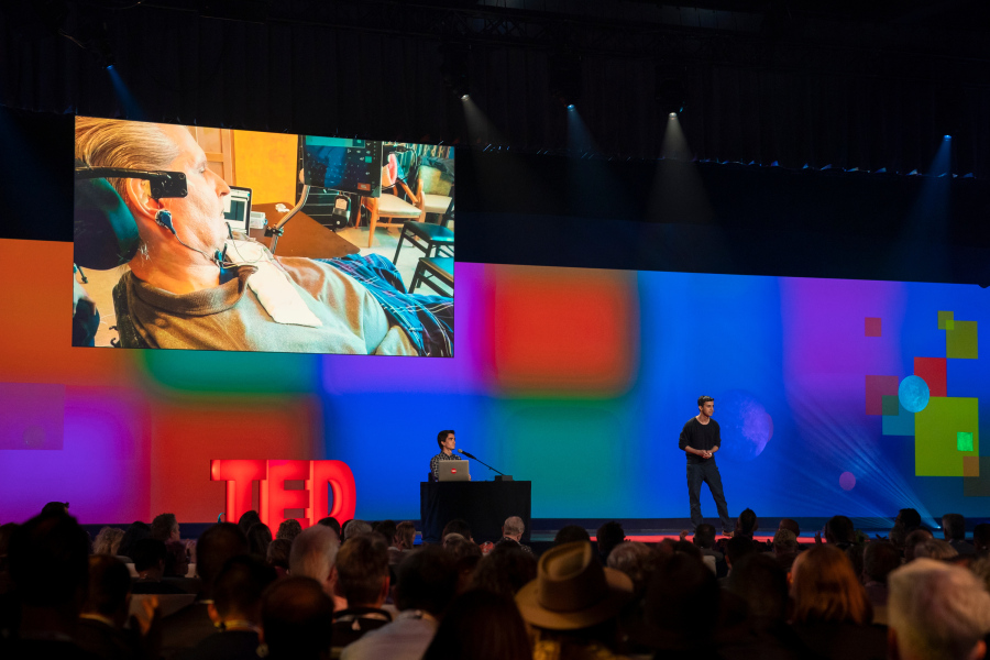 Technologist Arnav Kapur is working on a device that picks up neural signals and converts them to speech — a breakthrough tech that could give a voice back to some people who have lost their ability to speak. He speaks at Fellows Session 1 at TED2019: Bigger Than Us, April 15, 2019, Vancouver, BC, Canada. (Photo: Ryan Lash / TED)