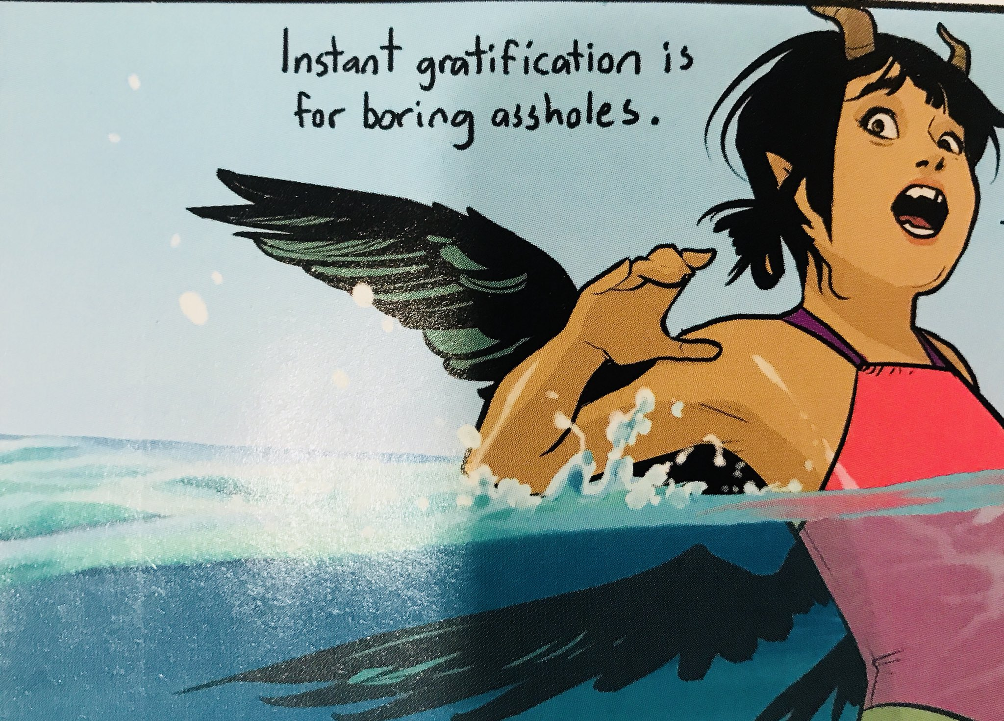 Words to live by from  Saga #51.