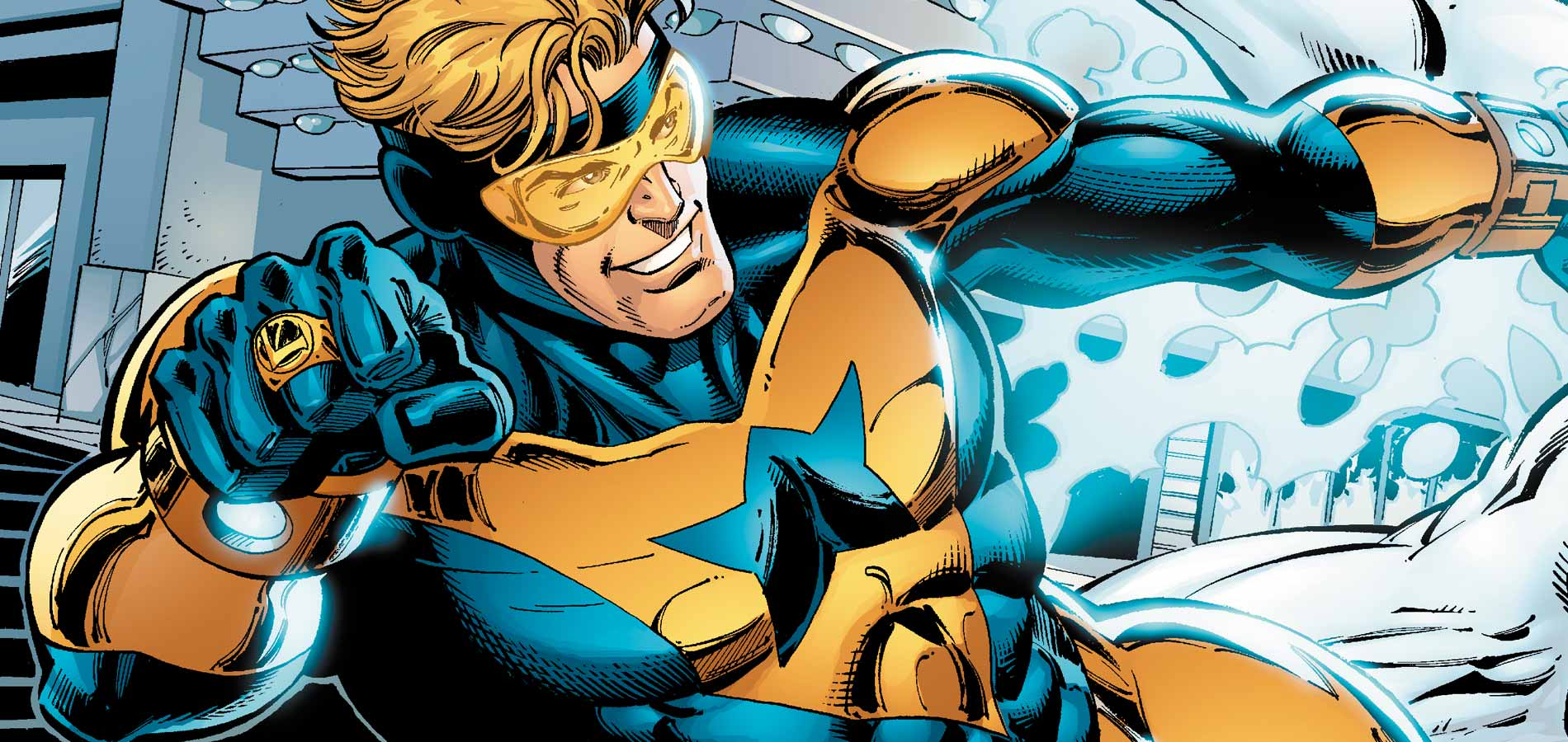 Booster Gold in happier times.