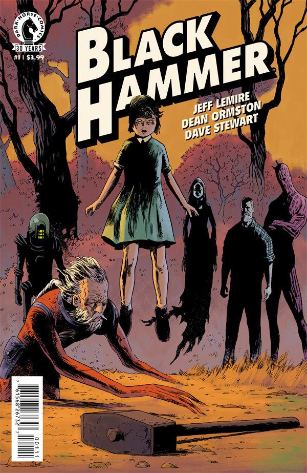 Black Hammer  by Jeff Lemire, Dean Ormston, and Dave Stewart.