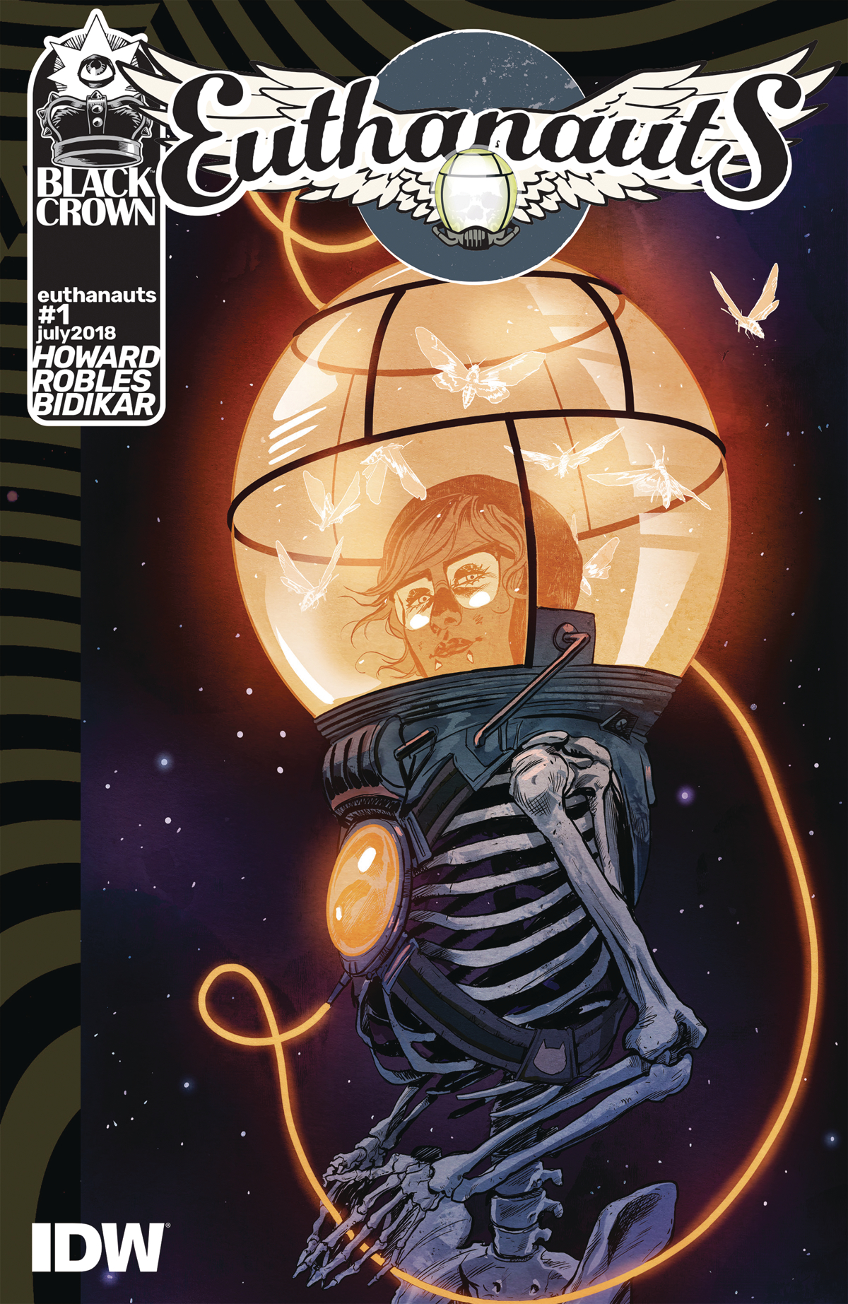 Euthanauts #1  is an intriguing comic that lives up to its incredible cover art.