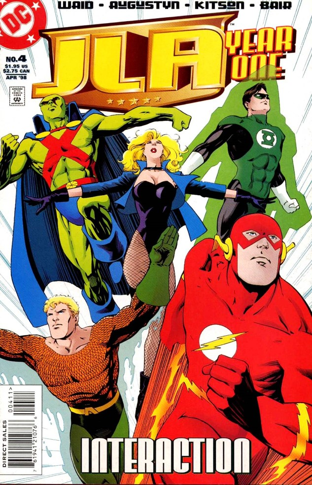 JLA Year One  re-imagined the League's early days without  DC's  Trinity.
