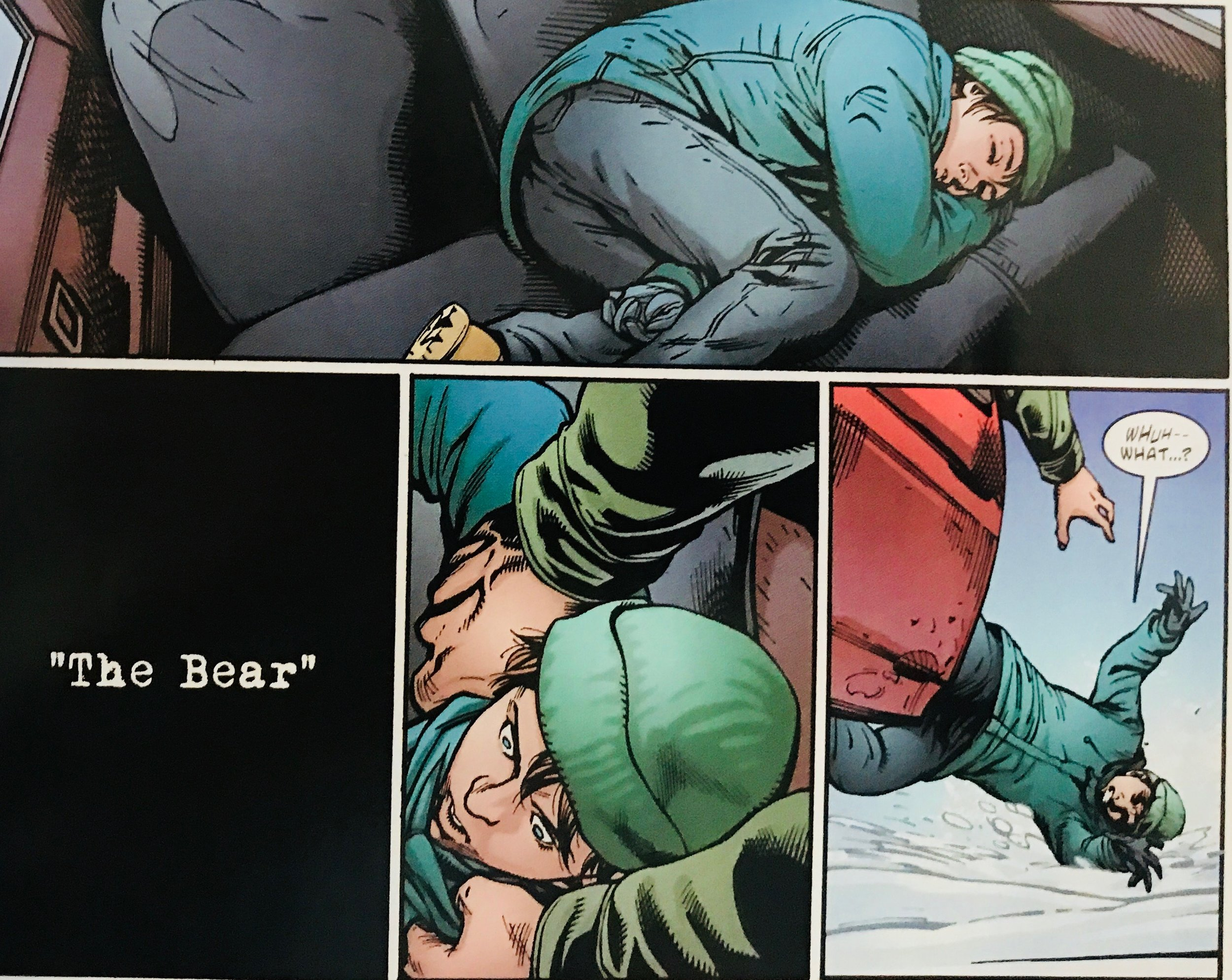 The first panel of Priest's run: Slade's doomed son Grant in the cold, being cast away for weakness by his father.